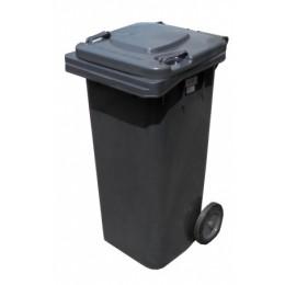 Бак для мусора  пластиковый, антрацит, 120л.  ZTP-120-A.