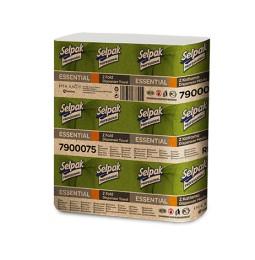 Бумажные полотенца листовые, белые, Z-укладка, Selpak Pro. Essential. 32660340
