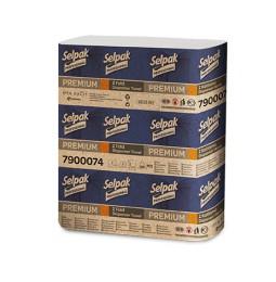 Бумажные полотенца листовые, белые, Z-укладка, Selpak Pro. Premium.32660130