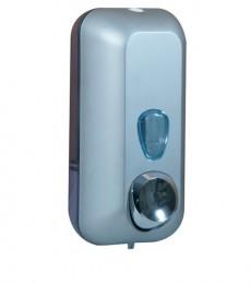 Дозатор жидкого мыла 0.55 л, сатиновый / прозрачный, пластик. A71401SAT
