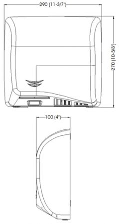 Cушилка для рук SPEEDFLOW. M-06AC