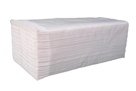 Бумажные полотенца листовые,  V-укладка, целлюлозные. PRv-160 .