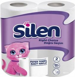 Бумажные полотенца, ролевые (рулонные). Silen. 32764100