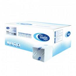 Туалетная бумага листовая, целлюлозная, белая. Без тиснения. B-308.