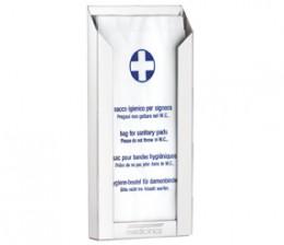 Держатель пакетов гигиенических SANITARY  белый. DBH100