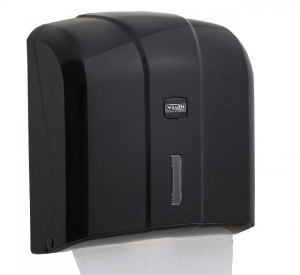 Держатель бумажных полотенец C, V складка, черный пластик. K4B