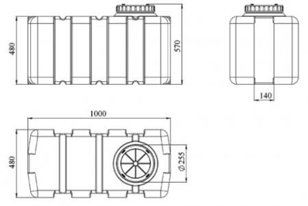 SG-200. Прямоугольная емкость типа SG.