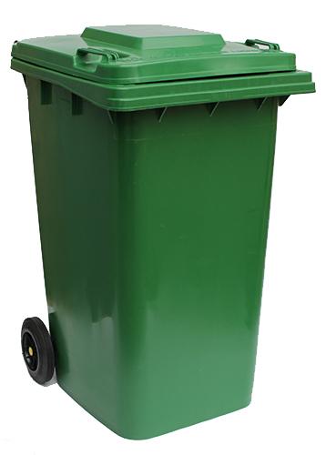 Бак для сміття  240 л., зелений.  240H2-19G.